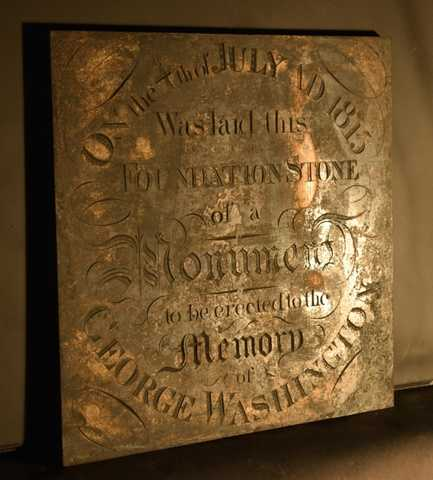 The Commemorative Brass Plate from the Cornerstone