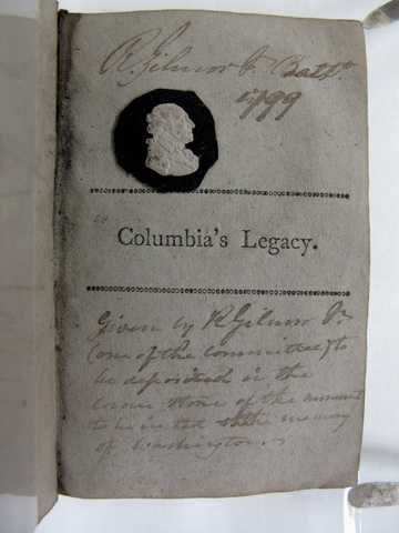 Jar No. 1 – Columbia's Legacy (Washington's Presidential Farewell Address) – with Miniature of Washington