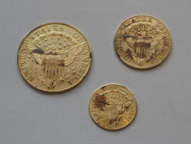 Jar No. 1 – Gold Eagle, Half Eagle and Quarter Eagle (Reverse)