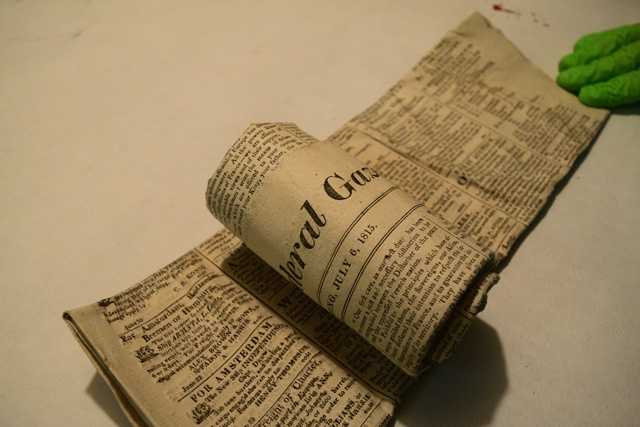 Jar No. 3 – Newspapers Found Inside While Being Unrolled