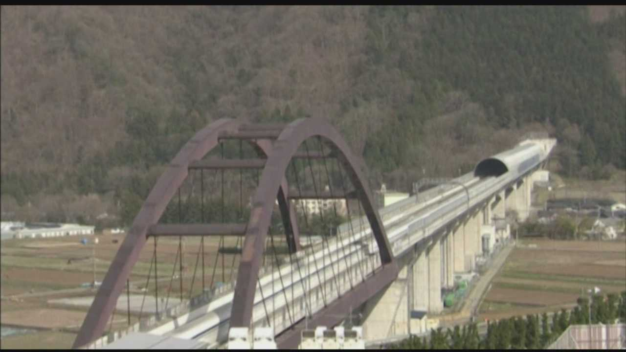 Speeding through the Japanese countryside at more than 300 miles per hour, Gov. Larry Hogan appears to be sold on high-speed rail technology.