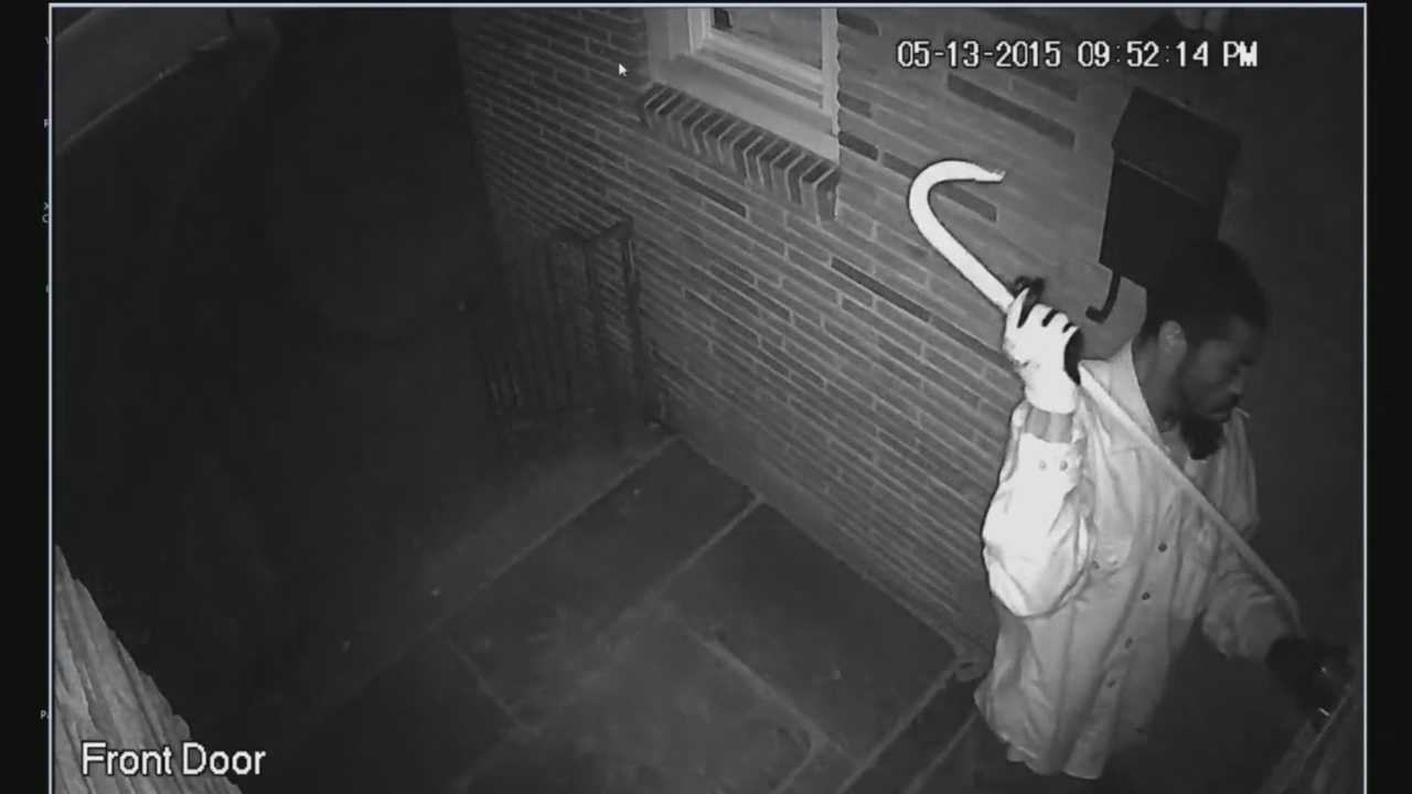 Burglar caught on city home surveillance video