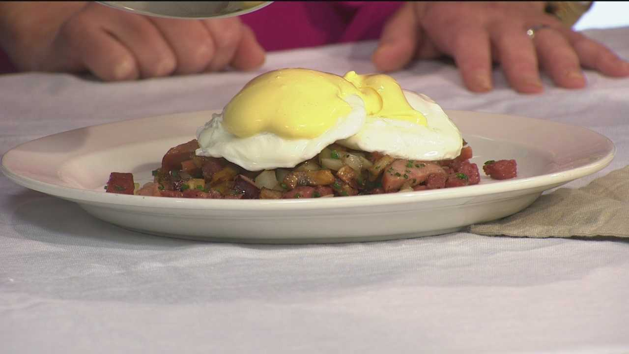 Jeremy Hoffman from Preserve Restaurant in Annapolis shows how to make Poached Eggs with Pennsylvania Dutch Hash.