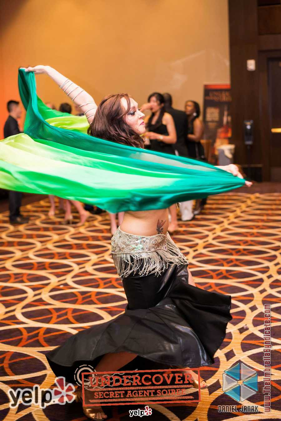 """Yelp UNDERCOVER: Secret Agent Soirée at Horseshoe Casino"" - Cazbar brought the goods and the moves, thanks to a striking belly-dancer"