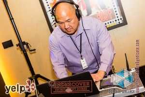 """Yelp UNDERCOVER: Secret Agent Soirée at Horseshoe Casino"" - The Digilog Crew's Darren Lim spinning all the hits for Silent Disco by Silent Storm"