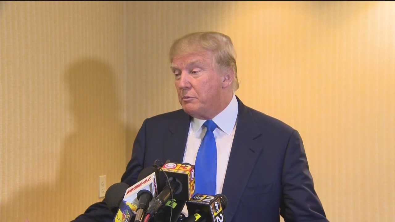 Laying out his plans for the presidency, candidate, real-estate mogul and reality TV star Donald Trump spoke with Republicans in Maryland.