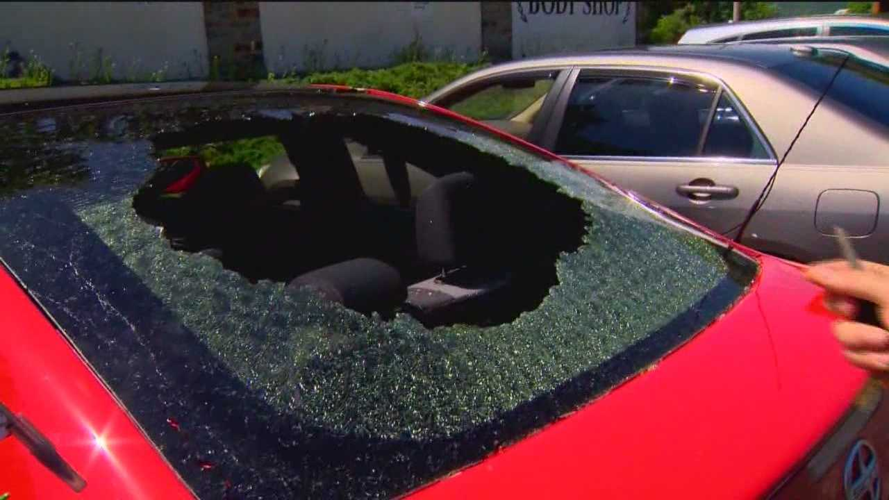 Tuesday night's hail storm damaged many cars in Maryland, making car shops and insurance agents very busy the next day.