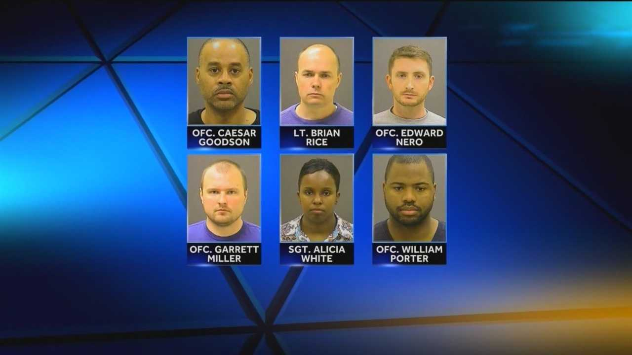 One of two motions filed late Friday afternoon seeks to put four of the six officers on trial together first in the Freddie Gray case.