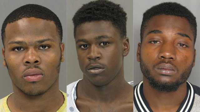Tavon Tamar Hill (left), Tyree Dawon Barnes (center), Andre Omar Walker (right)