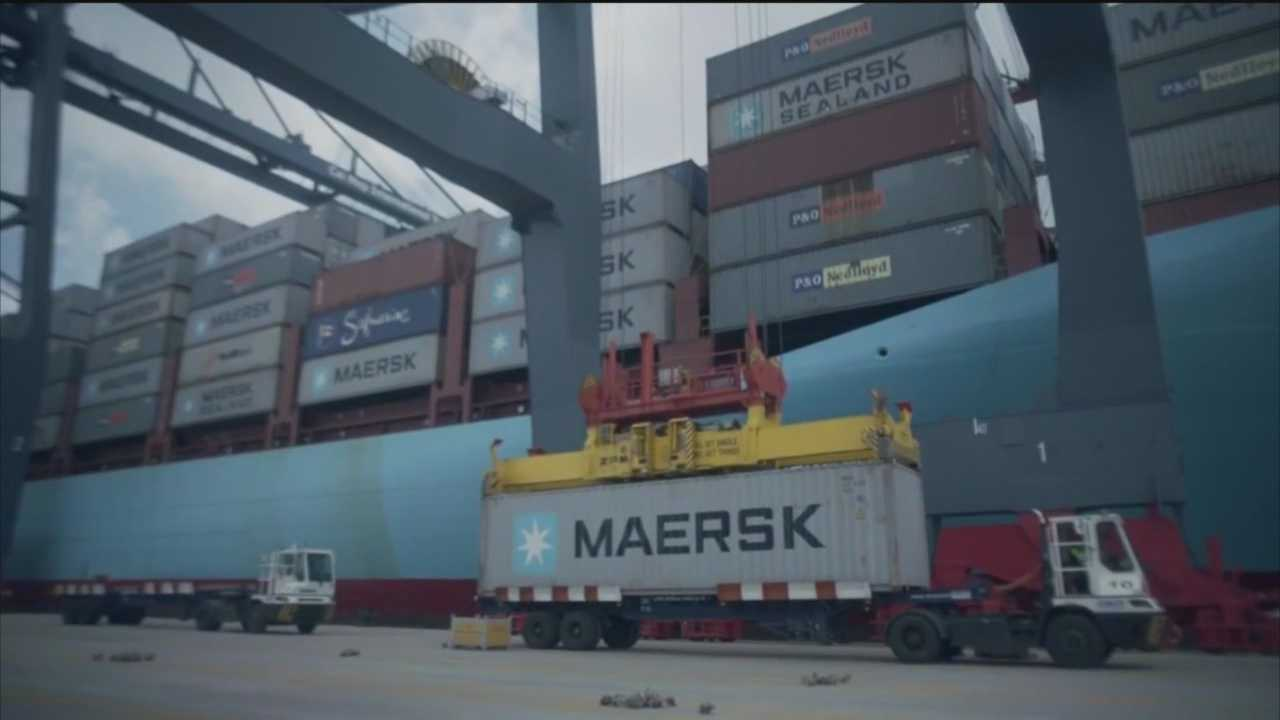 Federal, state and local officials announce the return of the Maersk group, which has a special tradition with the Port of Baltimore.