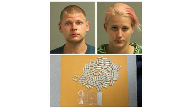 Anne Arundel County police said Donald James Quarels, 22, and Samantha Nicole Gee, 23, each of the 900 block of Point Pleasant Road, were charged with heroin possession and intent to distribute charges.