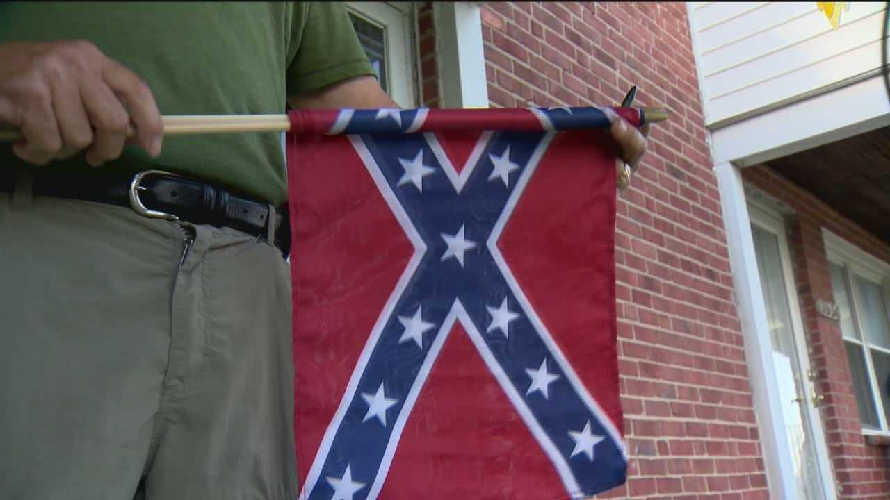 A Dundalk man says the Confederate flag represents history and passion for Southern heritage.