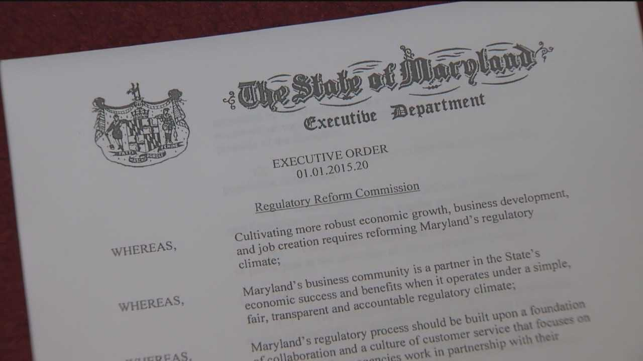Gov. Larry Hogan is trying to make good on a campaign promise. He signed an executive order Thursday that jumpstarts his efforts to make Maryland more business-friendly.