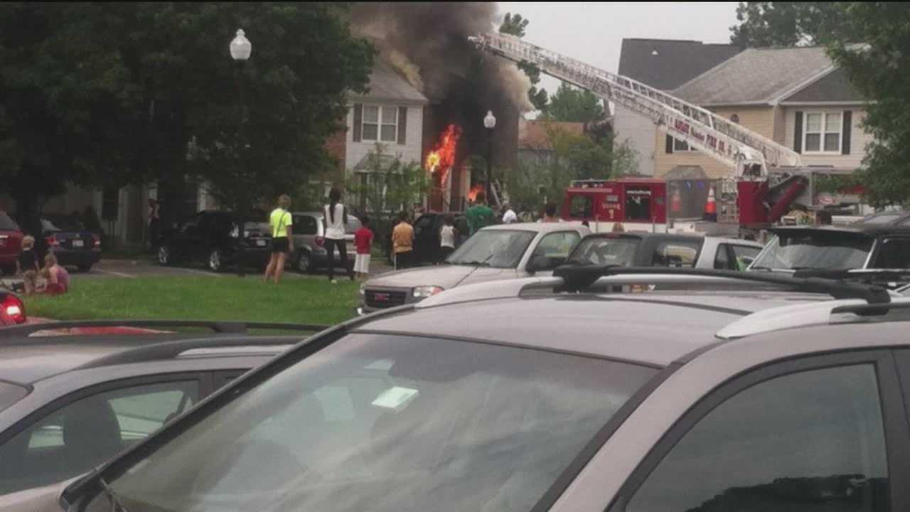 A Howard County firefighter was injured Sunday after battling a house fire in Laurel.