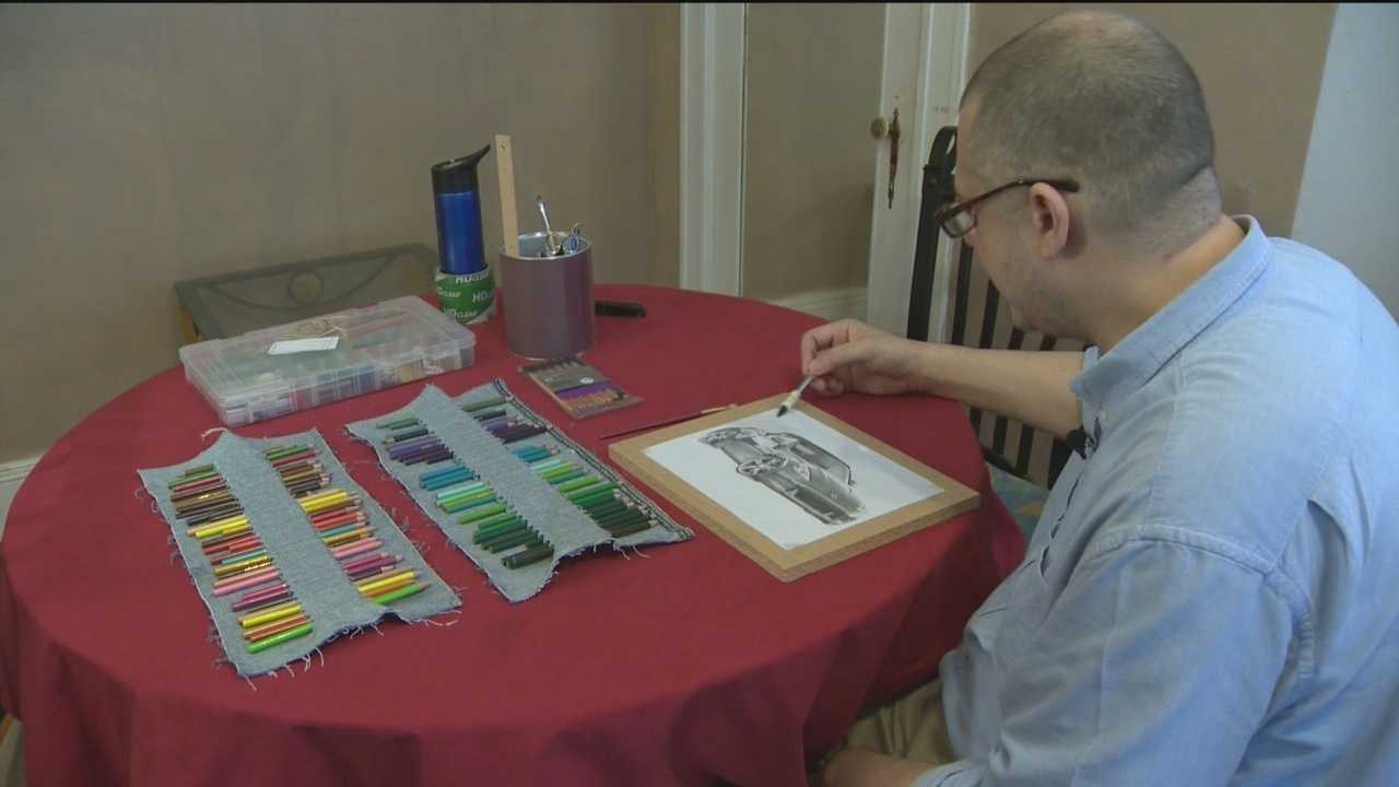 Jason Stone is using his art to keep pushing forward. He has beaten cancer in 2000 and 2010, only to be recently hit with the disease for a third time.