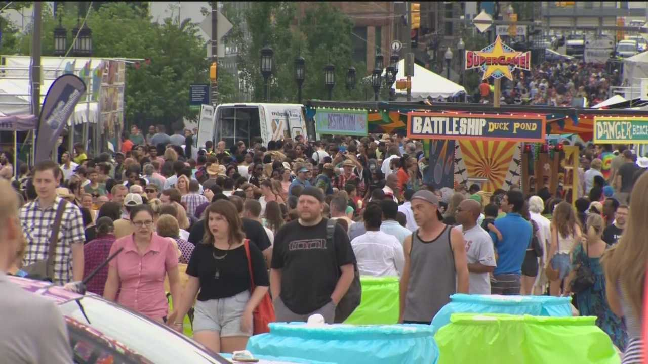 The tents are up along Mount Royal Avenue where Artscape 2015 is taking over this weekend.