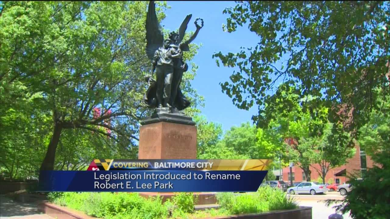 The Baltimore City Council has introduced legislation to rename Robert E. Lee Park, the latest push toward eliminating landmarks with ties to the Confederate Army