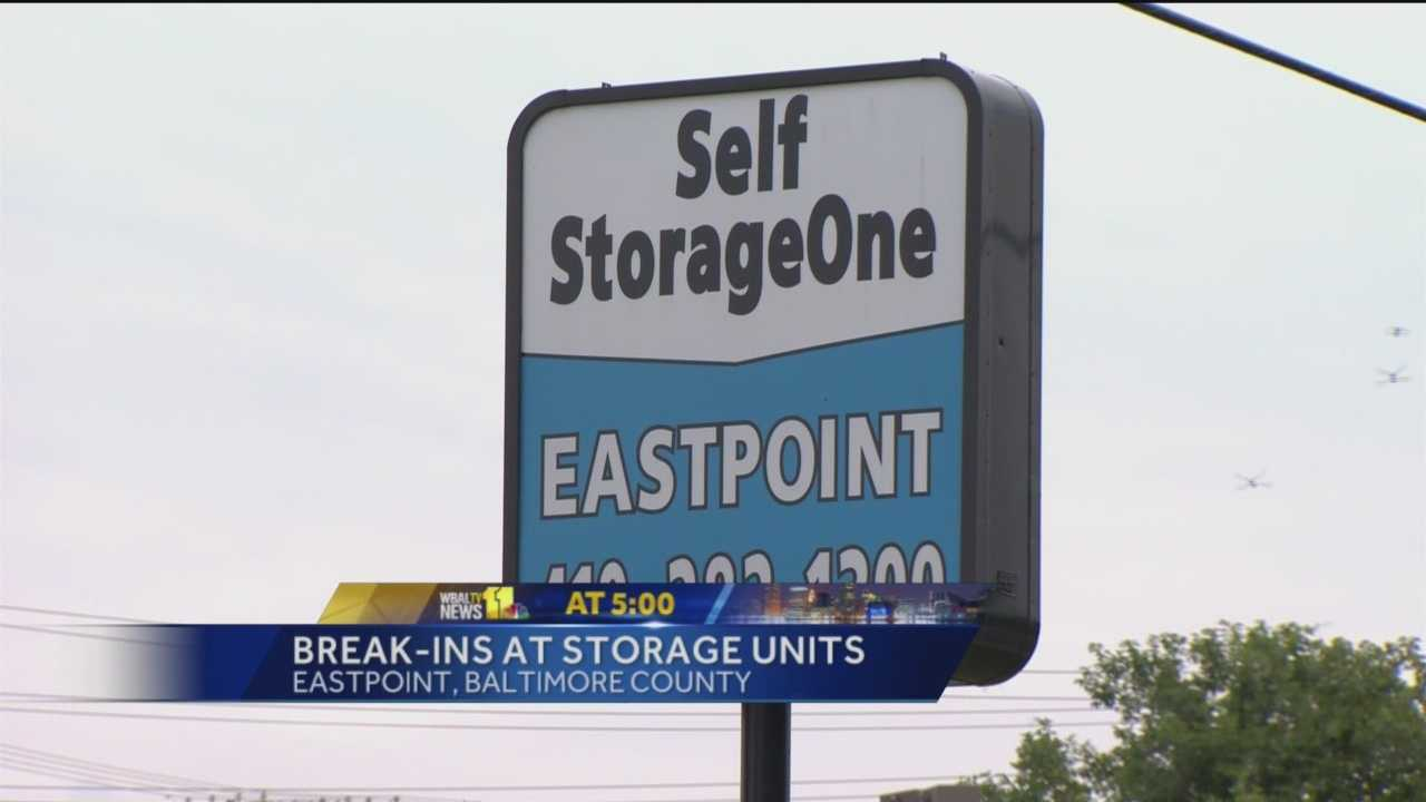 Baltimore County police are investigating break-ins at a Rosedale storage facility.