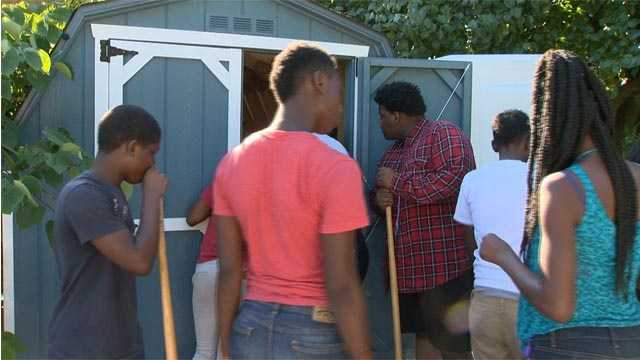 East Baltimore youth are being taught valuable lessons while working on the Convenant Community Association's garden project.