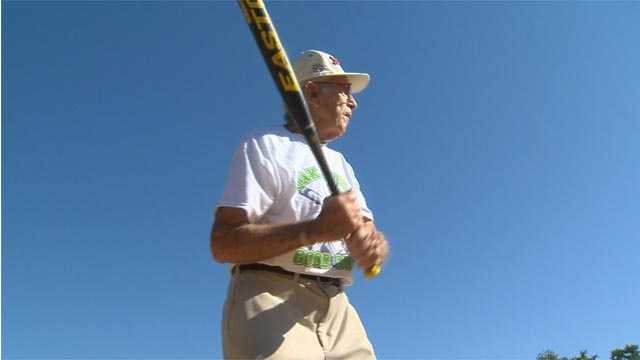 George Breckenridge, 90, of Parkville, continues to play softball on a regular basis. He has remained active in the sport for 77 years.