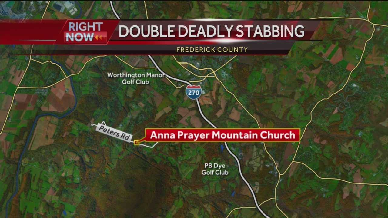 A man was killed and his wife was injured after a double stabbing on Sunday inside a Frederick County church.