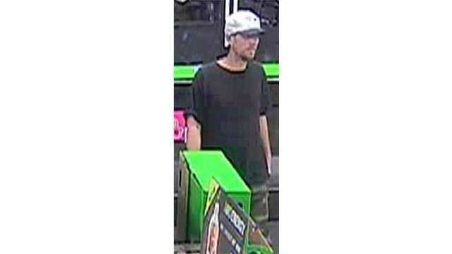 Annapolis police said this man is suspected of stealing a donation collection container from a local 7-Eleven.