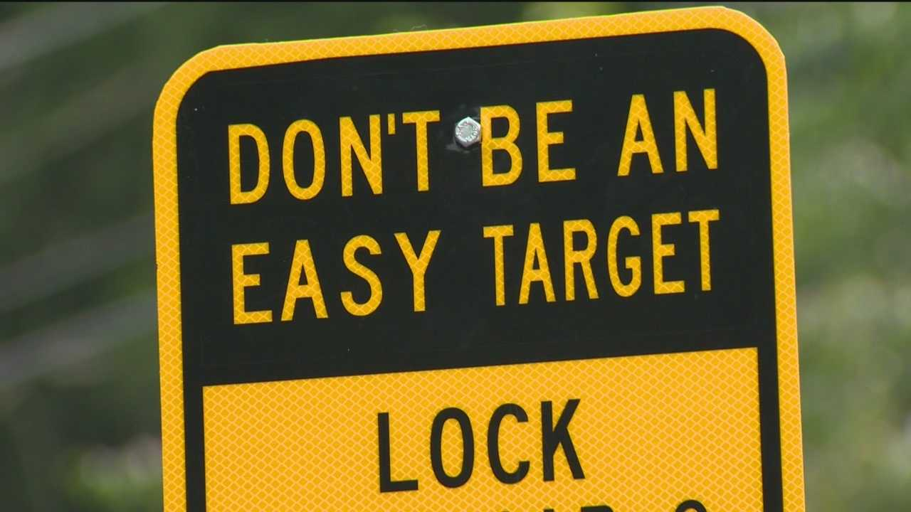 Harford County authorities are warning the public about gang members who watch for cars left unattended to steal valuables.