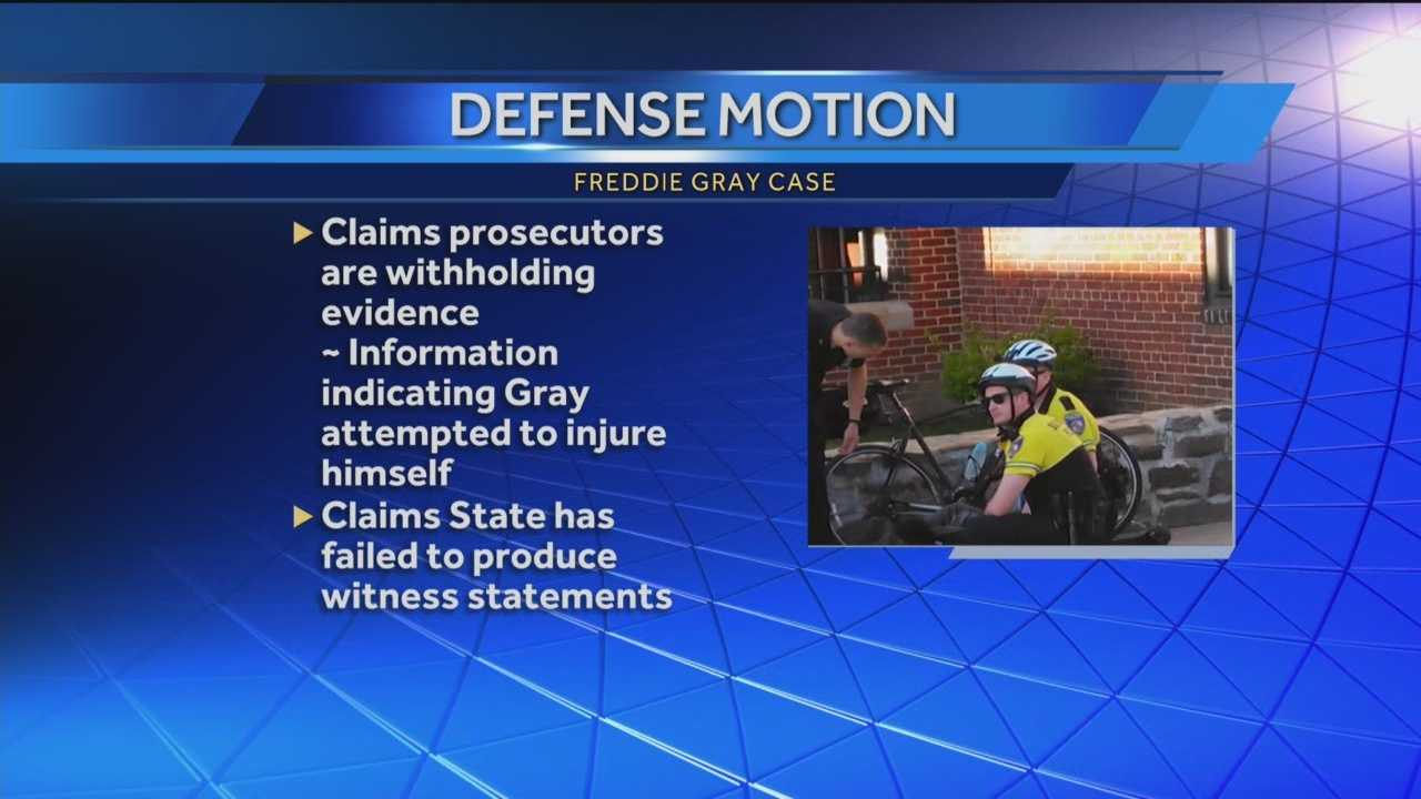 Defense attorneys are claiming that prosecutors are withholding evidence in the case against the officers charged in the death of Freddie Gray.