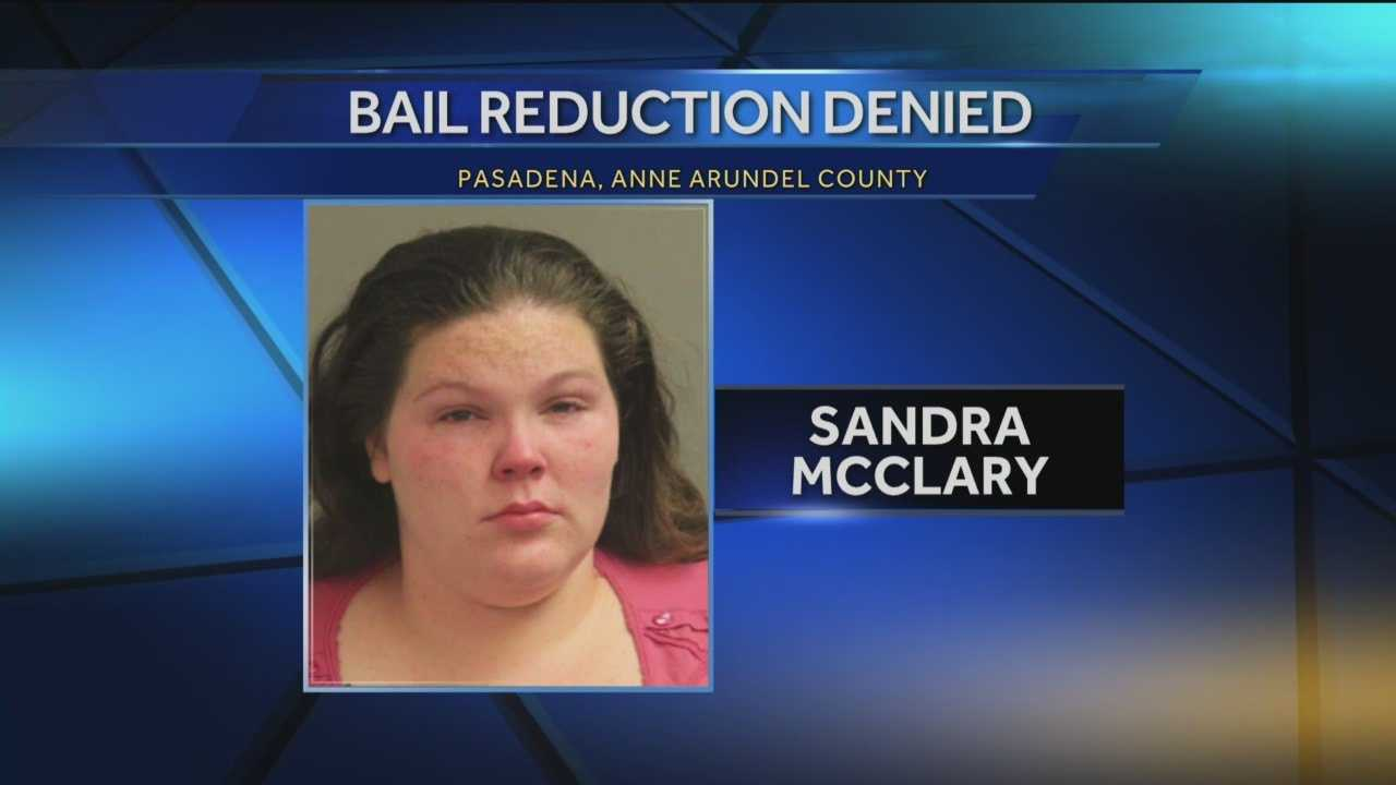 Bail will remain $500.000 for the woman accused of abandoning her child on the side of the road in Anne Arundel County.