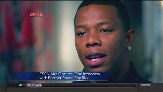 "Former Baltimore Raven running back Ray Rice tells ESPN in an interview that he is a ""rehabilitated man"" and hopes to get a chance to play again after being arrested last year for punching his then-fiancee."