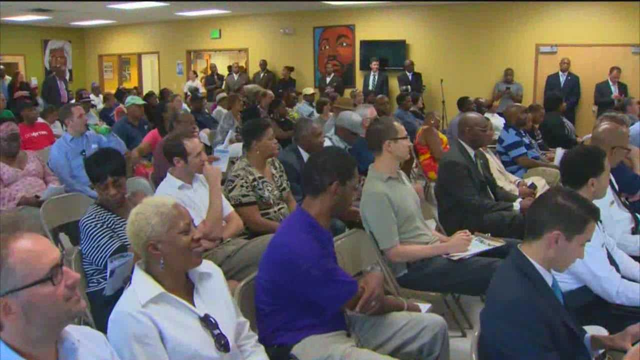 Residents gathered in west Baltimore on Wednesday night to discuss with local leaders the growing violence in the city. The meeting represented the second of nine public safety forums.