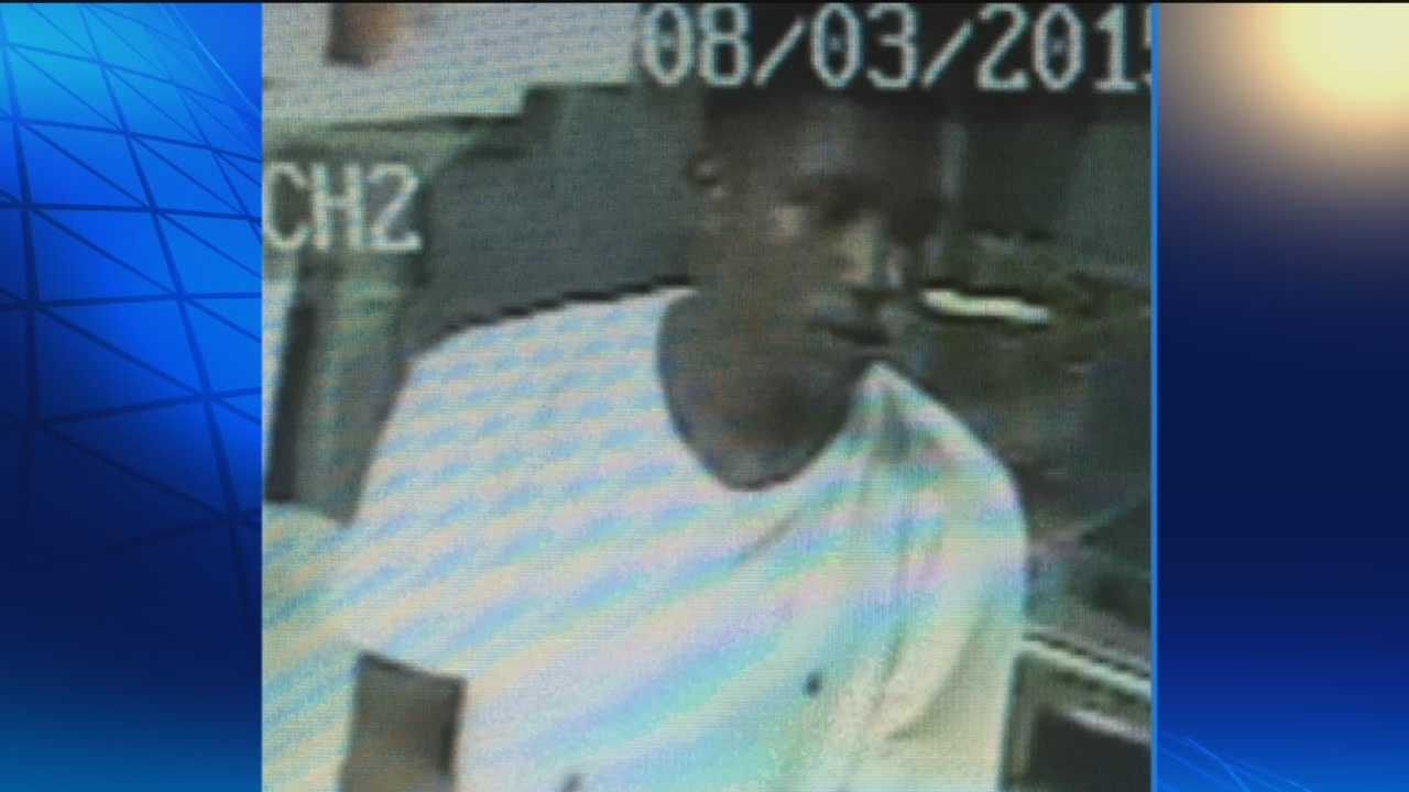 Police are seeking a man caught on surveillance video breaking into the Camden Pub a stealing money and a safe from the business.
