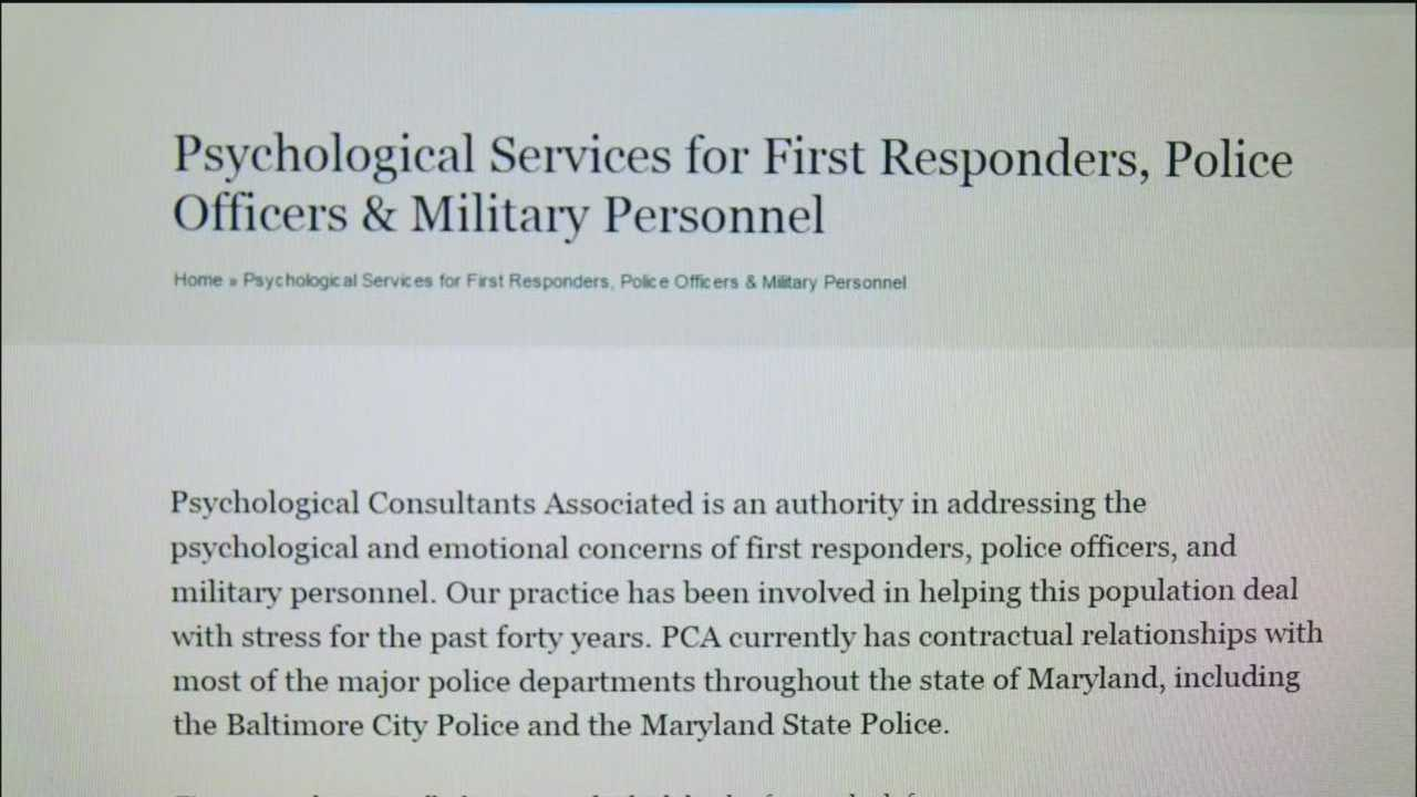 The 11 News I-Team has uncovered new information about the company accused of rushing through psychological evaluations of aspiring police officers. Lutherville-based Psychology Consultants Associated does psychological screening on police applicants. The firm has contracts with a number of law enforcement agencies including city police.