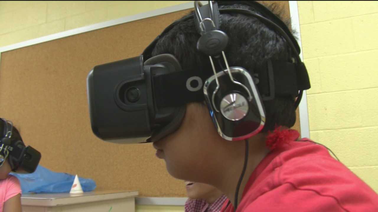Students at Armistead Gardens in east Baltimore seemed to have a similar reaction to virtual reality.