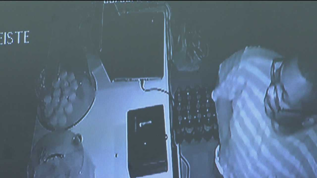 Several Parkville businesses were hit by a burglar Friday night. Enchanted Cakes and Treats in the 7900 block of Harford Road was robbed moments after it closed for the day. Bakery owner Carrie Shelley has surveillance footage capturing a man with a crowbar at the shop's doors. Once in the store, the robber grabbed cash and a safe before leaving. Baltimore County police informed Shelley of the break-in following a robbery at another store. Police said an alarm at George's Farm Market alerted them to the inc