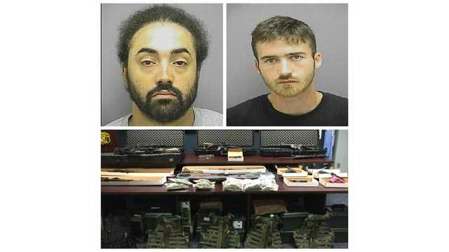 Christopher Bryce Stooltzfoos, 32, and Daniel Schumaker, 24, of Mount Airy, were arrested by Frederick police as part of an undercover weapons and drugs investigation.