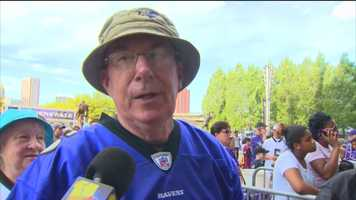 Ravens fan Bill Raymond said he expects the team to have a good season in 2015 but is not sure the team will make it to the Super Bowl.