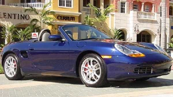Investigators believe the victim was killed by someone trying to steal his 2001 blue Porsche Boxster, which looks similar to one pictured above.
