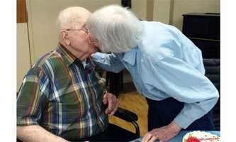Centennial couple celebrates 75 years together.