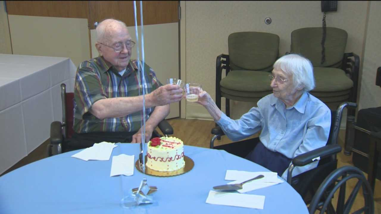 A Baltimore County couple is celebrating their 75th wedding anniversary Tuesday. Walter and Leslie Kimmel are both 100 years old. They were married 75 years ago on Aug. 18, 1940.