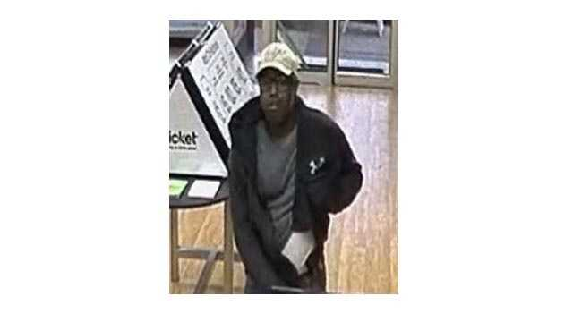 The FBI said this man is suspected to have robbed six Baltimore cellphone stores.