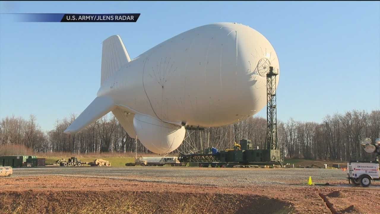 Joint Land Attack Cruise Missile Defense Elevated Netted Sensor System (JLENS) blimp