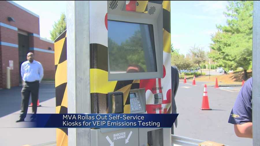 Mva opens kiosks for drivers to do veip tests for Maryland motor vehicle administration