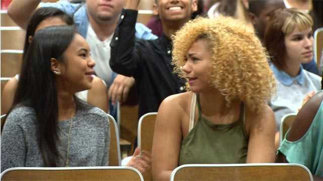 Students gather inside Hammond High School for an assembly on the first day of school.
