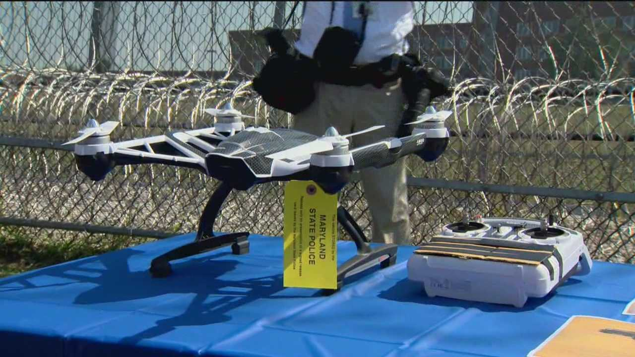 State officials caught a drone in the act of trying to deliver prison contraband into a maximum-security state prison in western Maryland.