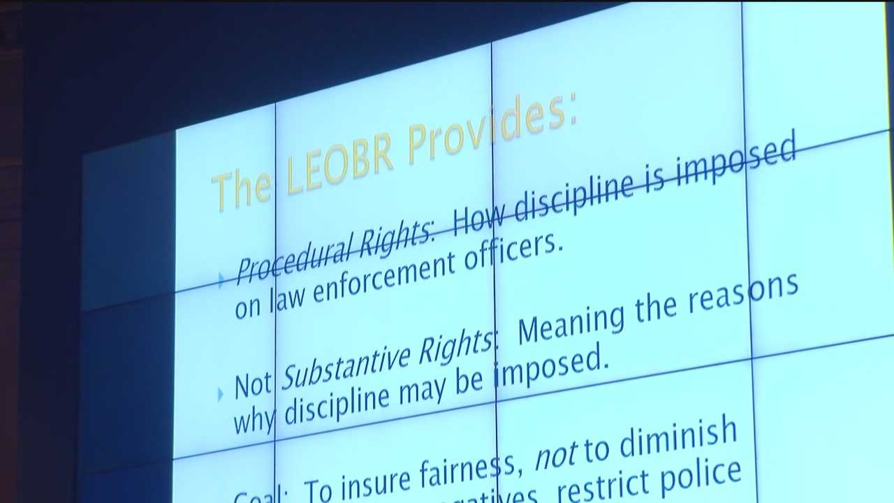The Law Enforcement Officers Bill of Rights is in the crosshair in Annapolis Monday evening. The NAACP and American Civil Liberties Union complain that a hearing is stacked against reformers.