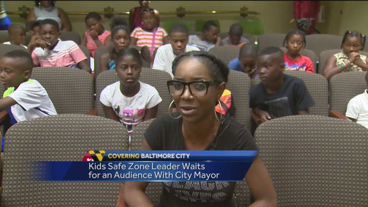 A group of kids from the Penn-North area had a meeting with Mayor Stephanie Rawlings-Blake Wednesday to push for funding for their program, which was started in the wake of the riots.