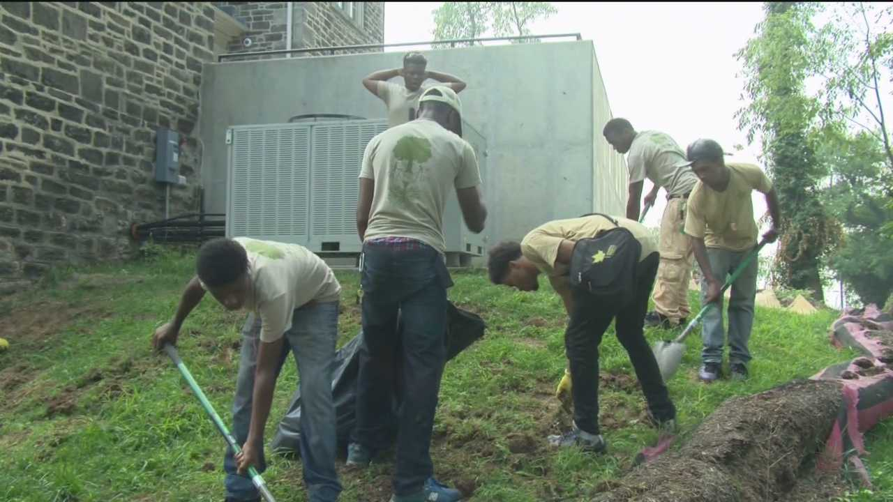 A Baltimore program wants kids to get dirty to make something beautiful.