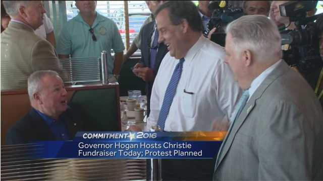 Maryland Gov. Larry Hogan will host a fundraiser for presidential hopeful New Jersey Gov. Chris Christie.