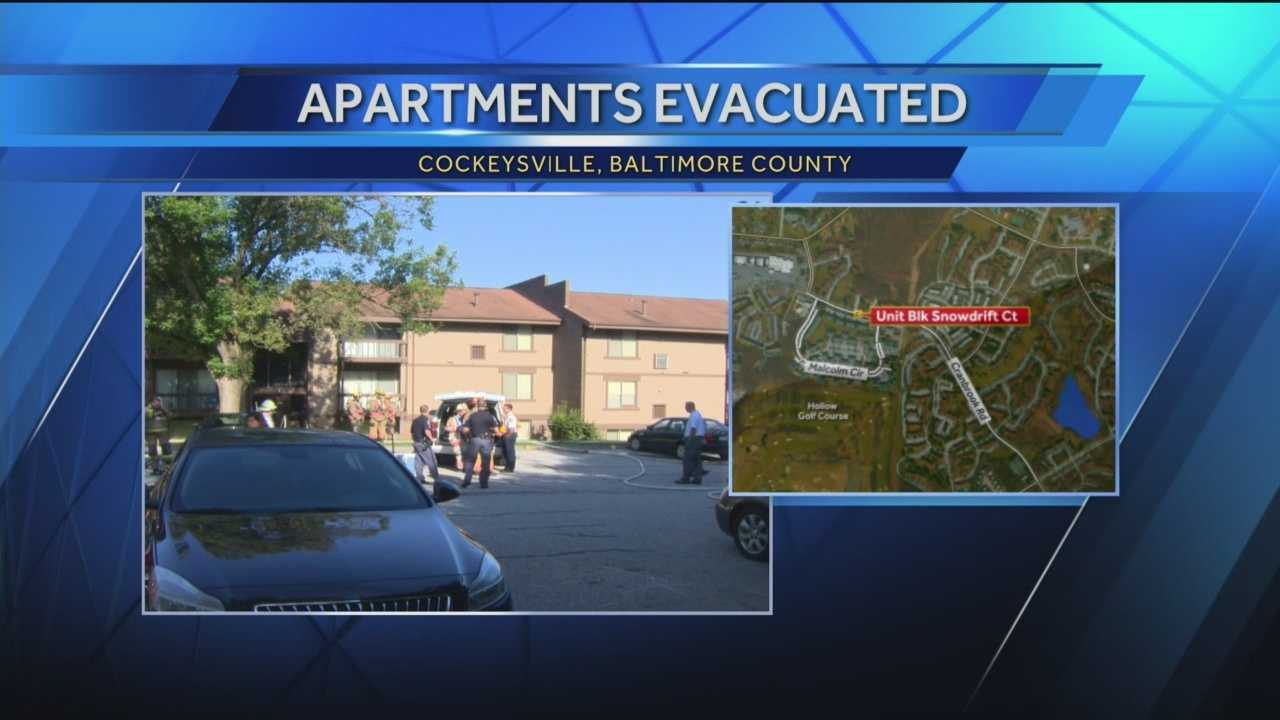 At least 15 patients have been evaluated for minor respiratory symptoms after an apartment building was evacuated Thursday morning in Cockeysville. The incident occurred around 8 a.m. in the unit block of Snowdrift Court following a report of an unknown odor. Fire officials said the odor was caused by a combination of household cleaners. No injuries were reported.